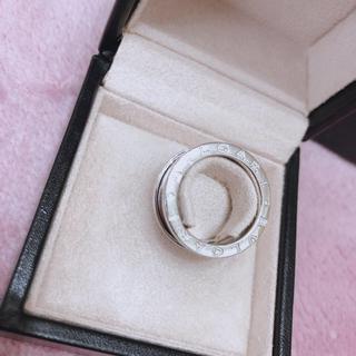 ブルガリ(BVLGARI)のBVLGARI 指輪 11号 シルバー ホワイトゴールド B-zero1 K18(リング(指輪))