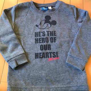 ミッキーマウス(ミッキーマウス)の裏起毛 スウェット120(Tシャツ/カットソー)