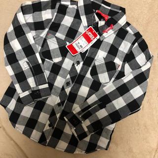 フタフタ(futafuta)の新品未使用 チェックシャツ110(Tシャツ/カットソー)