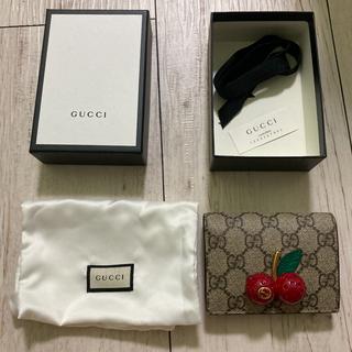 グッチ(Gucci)のGUCCI グッチ 二つ折り財布 チェリー さくらんぼ(財布)
