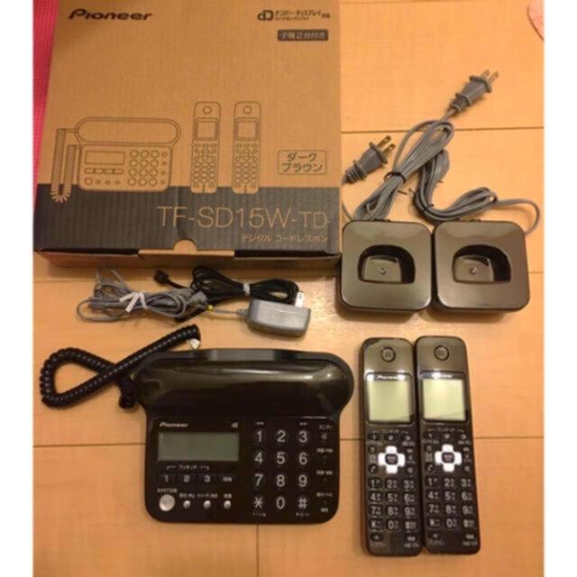 Pioneer(パイオニア)のPIONEER  ブラウン  デジタルコードレス 留守番電話機 (子機2台付 スマホ/家電/カメラの生活家電(その他)の商品写真