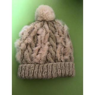 セシルマクビー(CECIL McBEE)のセシルマクビー ファー ニット帽(ニット帽/ビーニー)