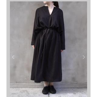 ヤエカ(YAECA)のkaval 2018aw  drawstring semi long dress(ロングワンピース/マキシワンピース)