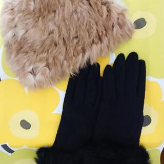 サマンサモスモス(SM2)の【美品】ファー帽子、手袋セット(手袋)