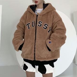 STUSSY - STUSSY タグ付き オリジナルスボアフリースジャケット
