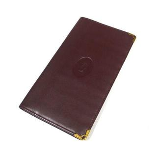 カルティエ(Cartier)のカルティエ レザー 二つ折り 札入れ ボルドー(折り財布)