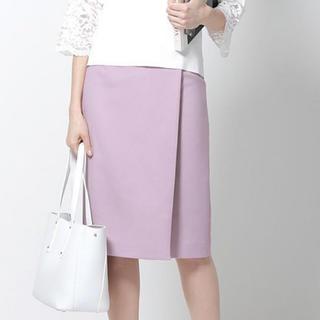 エムプルミエ(M-premier)のエムプルミエ  タイトスカート ピンク ラベンダー(ひざ丈スカート)