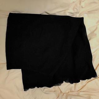 黒 ベーシックロングスカート(ロングスカート)