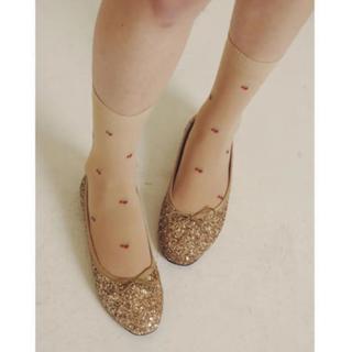 Lochie - épine(エピヌ) glitter gold ballet shoes