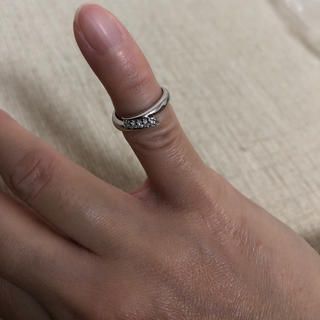 美品18金ダイヤモンドプラチナPT900ピンキーリングお買い得‼︎(リング(指輪))