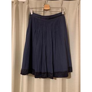 オペーク(OPAQUE)のプリーツスカート ネイビー(ひざ丈スカート)