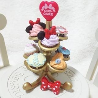 ディズニー(Disney)のぷちサンプル◼️ミニーマウス ラブリーケーキ チェリーパイ カップケーキツリー (ミニチュア)
