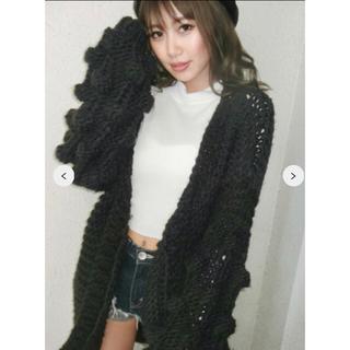ジェイダ(GYDA)のakn様専用 新品 hand knitting ボール ニット カーデ(カーディガン)