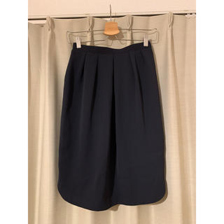 オペーク(OPAQUE)のベーシックスカート ネイビー(ひざ丈スカート)