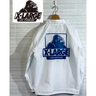エクストララージ(XLARGE)の【XLARGE】エクストラージ コーチジャケット★ホワイト(ナイロンジャケット)