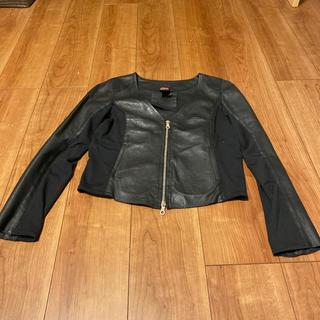 ダブルスタンダードクロージング(DOUBLE STANDARD CLOTHING)のダブルスタンダードクロージングレザジャケットブラック36(ライダースジャケット)