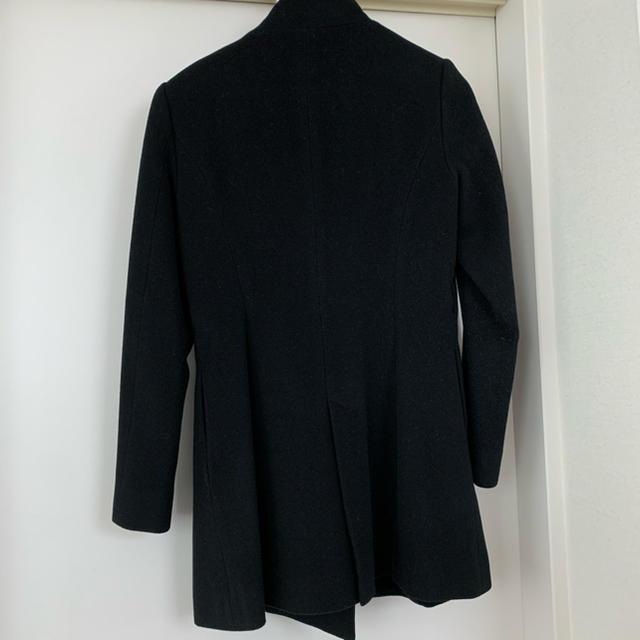 RU(アールユー)のRU アールユー マルイ ウールコート ブラック 黒 サイズ3 レディースのジャケット/アウター(ロングコート)の商品写真