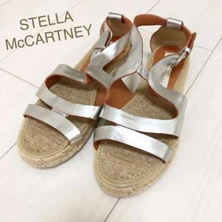 Stella McCartney - 美品!ステラマッカートニー 22.0〜 本革 スペイン製 シルバー サンダル