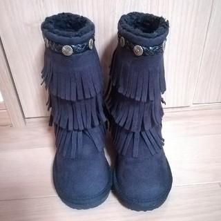ヴァンズ(VANS)の【新品同様/美品】VANS フリンジブーツ スエード 16cm(ブーツ)