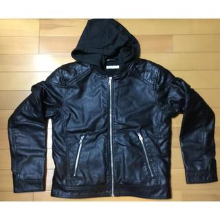 H&M - キッズ用 レザー風 ジャケット サイズ150 H&M 購入 ライダース ボーイズ