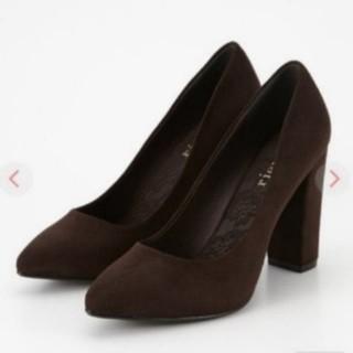 リエンダ(rienda)のリエンダ Thick heel F スエードパンプス (ハイヒール/パンプス)