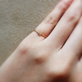 ヨンドシー(4℃)のカナル4℃ k10 ピンクゴールド リング ピンキーリング ダイヤモンド(リング(指輪))