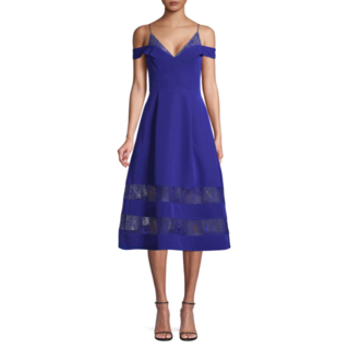 ◆Aidan by Aidan Mattox◆Crepe & Lace ドレス