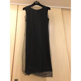 ダナキャランニューヨーク(DKNY)のダナキャラン 黒ワンピース Sサイズ(ひざ丈ワンピース)