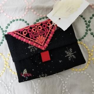 ミナペルホネン(mina perhonen)のANTIPASTのポケットティッシュケース/松屋銀座限定タグ付き新品未使用(ティッシュボックス)