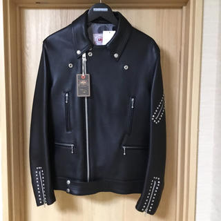 JAMES GROSE LEATHER STUDS RIDERS JACKET