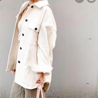 GU - 即購入可能新品タグ付オーバーサイズシャツジャケットナチュラルXL