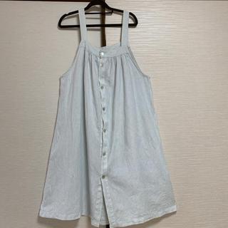 ネストローブ(nest Robe)のnest Robe 2way 水色×白ストライプ 麻100%ワンピース(ロングワンピース/マキシワンピース)