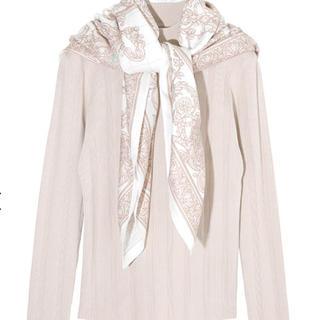 エイミーイストワール(eimy istoire)のスカーフ付きニットプルオーバー(ニット/セーター)