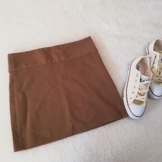 ローリーズファーム(LOWRYS FARM)の新品LOWRYSFARM タイトスカート  キャメル ブラウン(ミニスカート)
