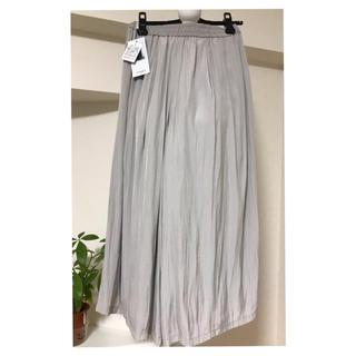 ガウチョスカート シルバー タグ付き未使用品(カジュアルパンツ)