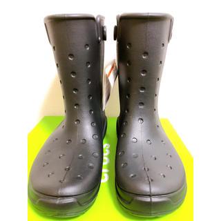 クロックス(crocs)の【新品未使用】クロックス レインシューズ ブラック 26.0(長靴/レインシューズ)