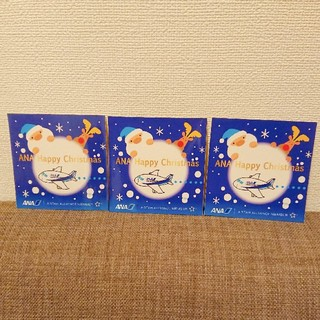 エーエヌエー(ゼンニッポンクウユ)(ANA(全日本空輸))のANAクリスマスステッカー 3枚セット(ノベルティグッズ)