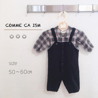 【COMME CA ISM】 サロペット風 ロンパース