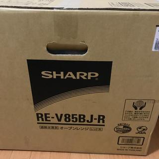 SHARP - 加熱オーブンレンジ(レッド)