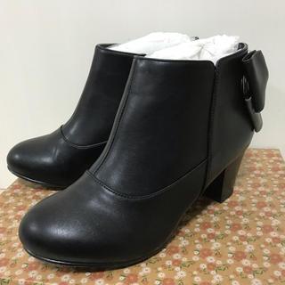 ジェリービーンズ(JELLY BEANS)のジェリービーンズ♡バックリボンショートブーツ レインブーツ 晴雨兼用(ブーツ)