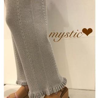 mystic - エフォートレスパンツ ケーブルリブニットパンツ❤︎