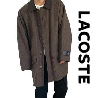 LACOSTE - LACOSTE ラコステ 異素材mix レザー ブルゾン  コート ジャケット