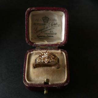 フランス アンティーク 天然真珠 18金リング 刻印あり 19世紀終わり頃(リング(指輪))