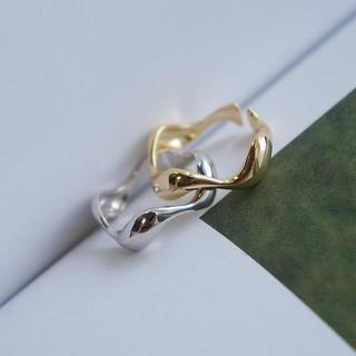 イエナ(IENA)のR79「シルバー925艶ウェーブリング」指輪 S925 同時購入割引あり☆(リング(指輪))