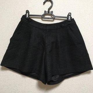 ニッセン(ニッセン)の黒のキュロットスカート フレアパンツ(キュロット)