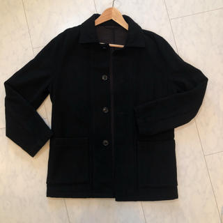 MUJI (無印良品) - ウールブレンド  コート ブラック ウール 無印 無印良品
