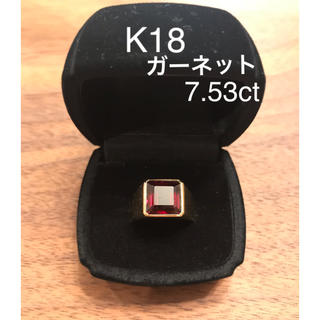 K18 ガーネット イエローゴールドリング(リング(指輪))