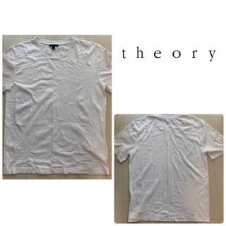 セオリー(theory)の美品 theory ホワイト無地 tシャツ(Tシャツ(半袖/袖なし))