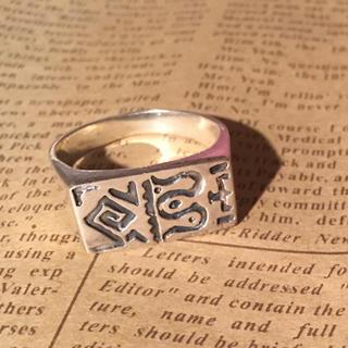 印台タイプ シルバー925 リング  24号 大きいサイズ ハンコ 象形文字 銀(リング(指輪))