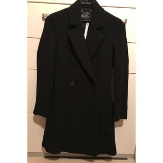 サルヴァトーレフェラガモ(Salvatore Ferragamo)のフェラガモ  コート ブラック サイズ38(ロングコート)
